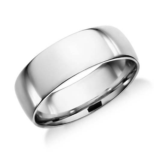 Classic Wedding Ring In Platinum 7mm Blue Nile Classic Wedding Rings Mens Wedding Rings Platinum Mens Wedding Rings
