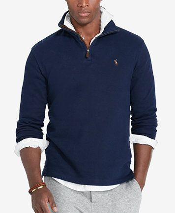 Polo Ralph Lauren Men s Estate Rib Half Zip Sweater - Sweaters - Men -  Macy s 13da68f3ccf7