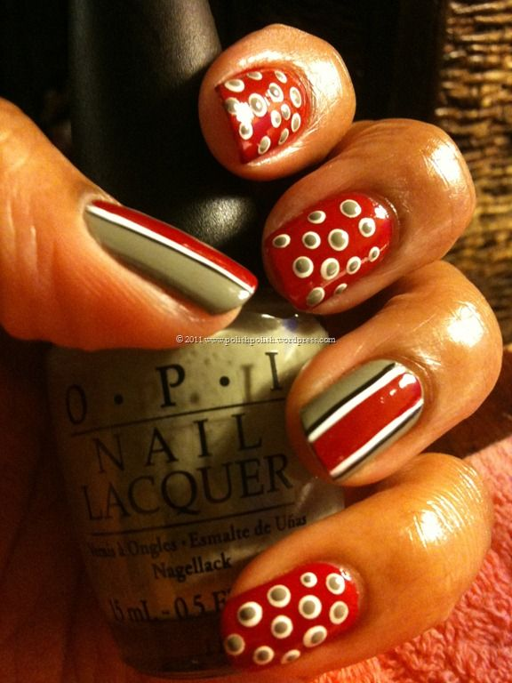 Ohio state football nail designs google search nails ohio state football nail designs google search prinsesfo Images