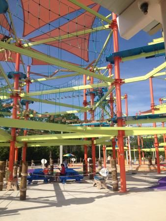 Sky Trail High Ropes Course And Rail Zip Lines Designed For The Entire Family Sharky S
