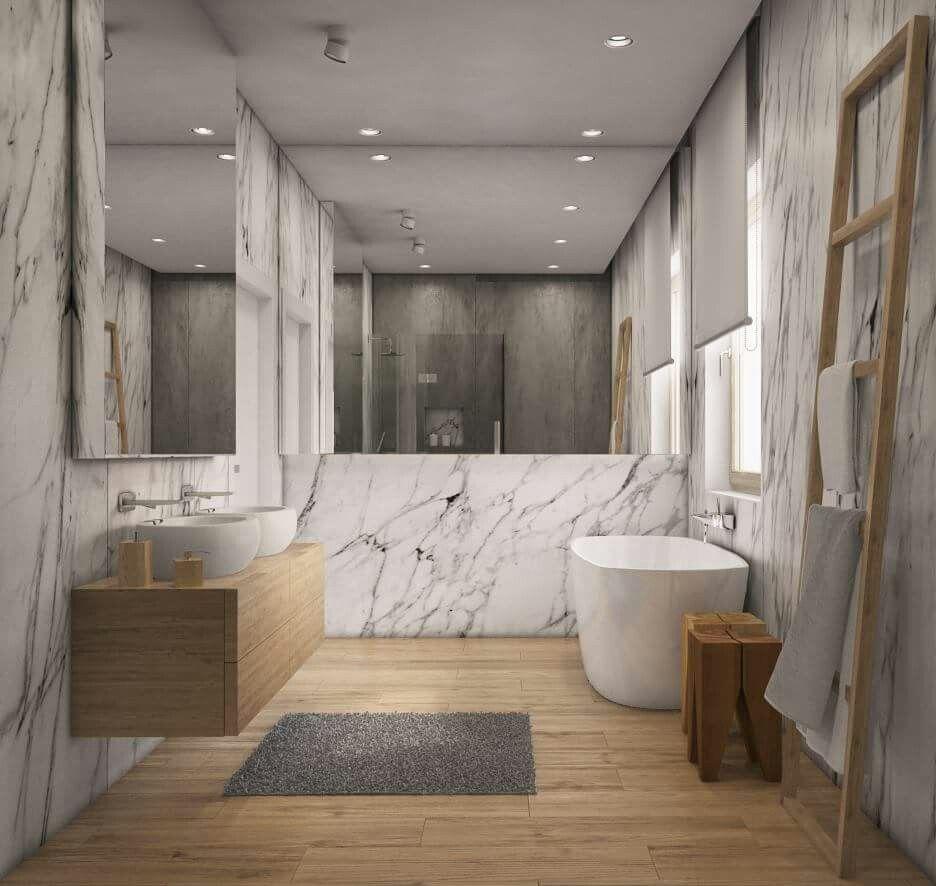 Bathroom Marmur Wood Design W 2019 Główne łazienki