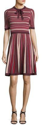 ca4604d446bc Kate Spade Short-Sleeve Multi-Stripe Sweater Dress