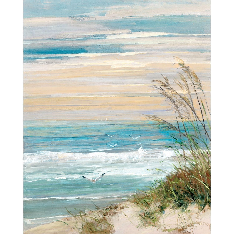 Portfolio Canvas Decor Beach at Dusk Canvas Wall Art | Drawing ideas ...