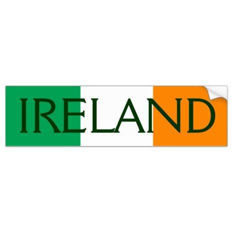 Ireland flag bumper sticker ireland and flags