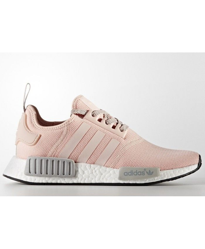 f85d63c565bae Adidas NMD Vapour Pink Grey Shoes Wearing a very comfortable breathable