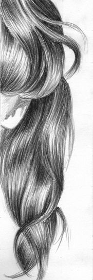 how to draw hair charcoal
