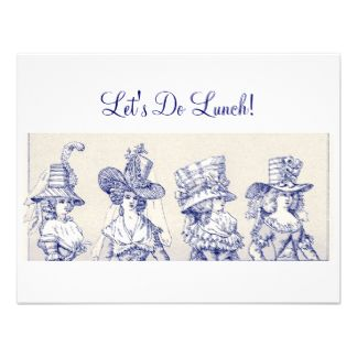 ladies little ladies luncheon invitation vintage ladies with
