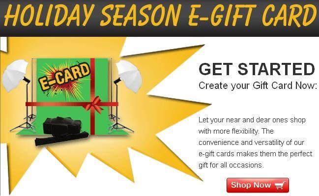 Holiday Season E-Gift Card!!! #PhotoStudioSupplies