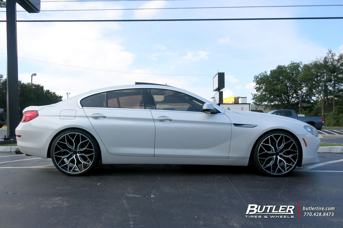 Bmw 6 Series Gran Coupe With 22in Vossen Hf 2 Wheels Bmw 6 Series Bmw Gran Coupe