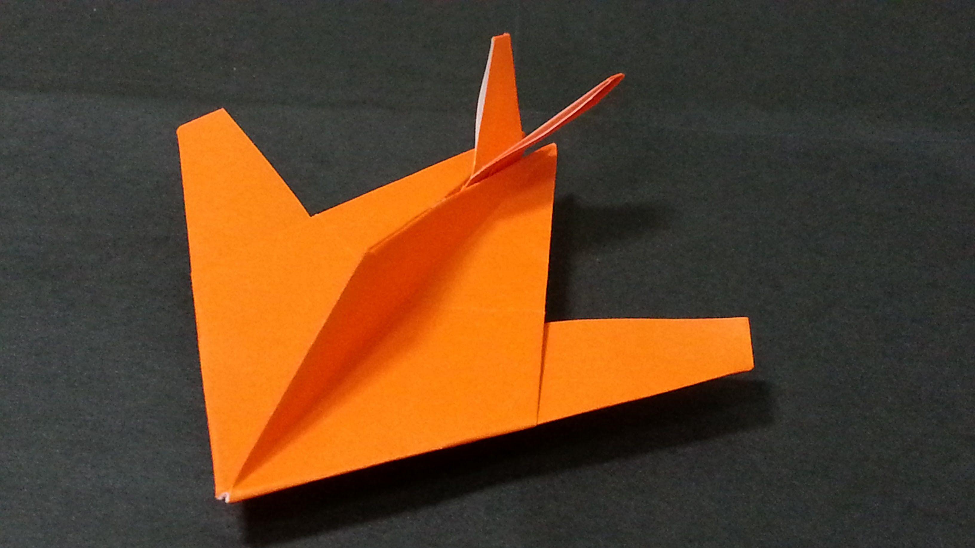 397 Origami 종이접기 (전투기 비행기)  F117 스텔스 전폭기  색종이접기  折纸 оригами 摺紙  折り紙  اور...