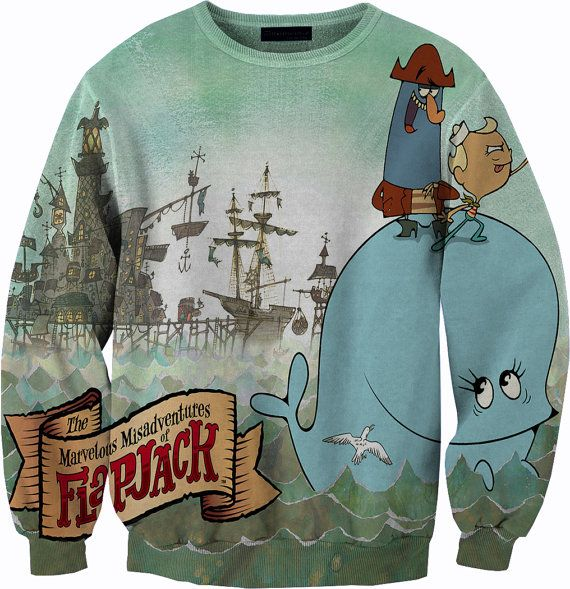 The Marvelous Misadventures of Flapjack crewneck by YeahWhateverz, $59.87