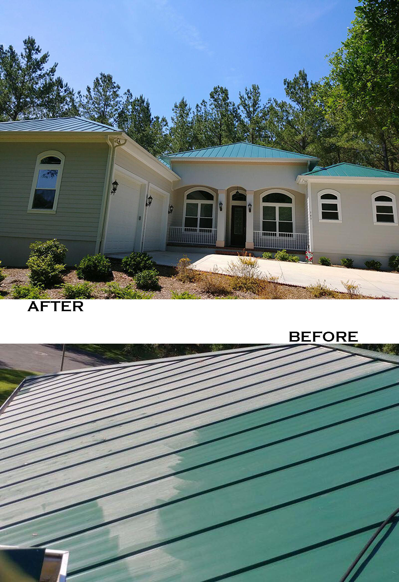 It S Amazing What A Roof Cleaning Can Do For Your Curb Appeal Check Out The Before Wow To Get Your Home Look Summer Decor Roof Cleaning Home Look