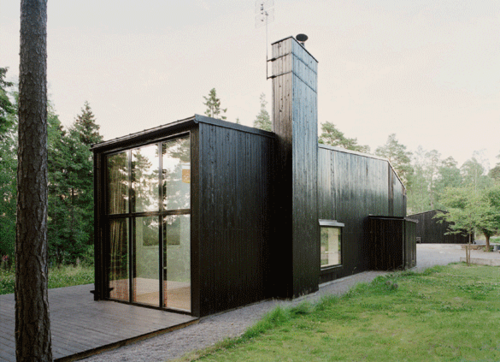 black barn. by swedish architects, in praise of shadows.