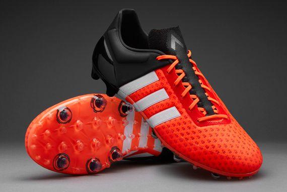 adidas ACE 15+ Primeknit FG - Mens Shoes - Firm Ground - Solar Orange/White/Core  Black