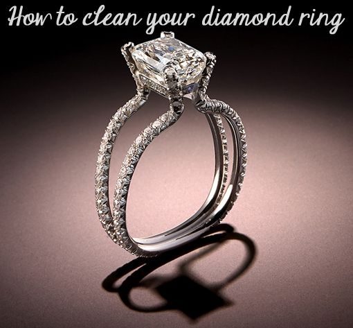 How to Clean Your Diamond Ring Diamond Cleaning solutions and Ring