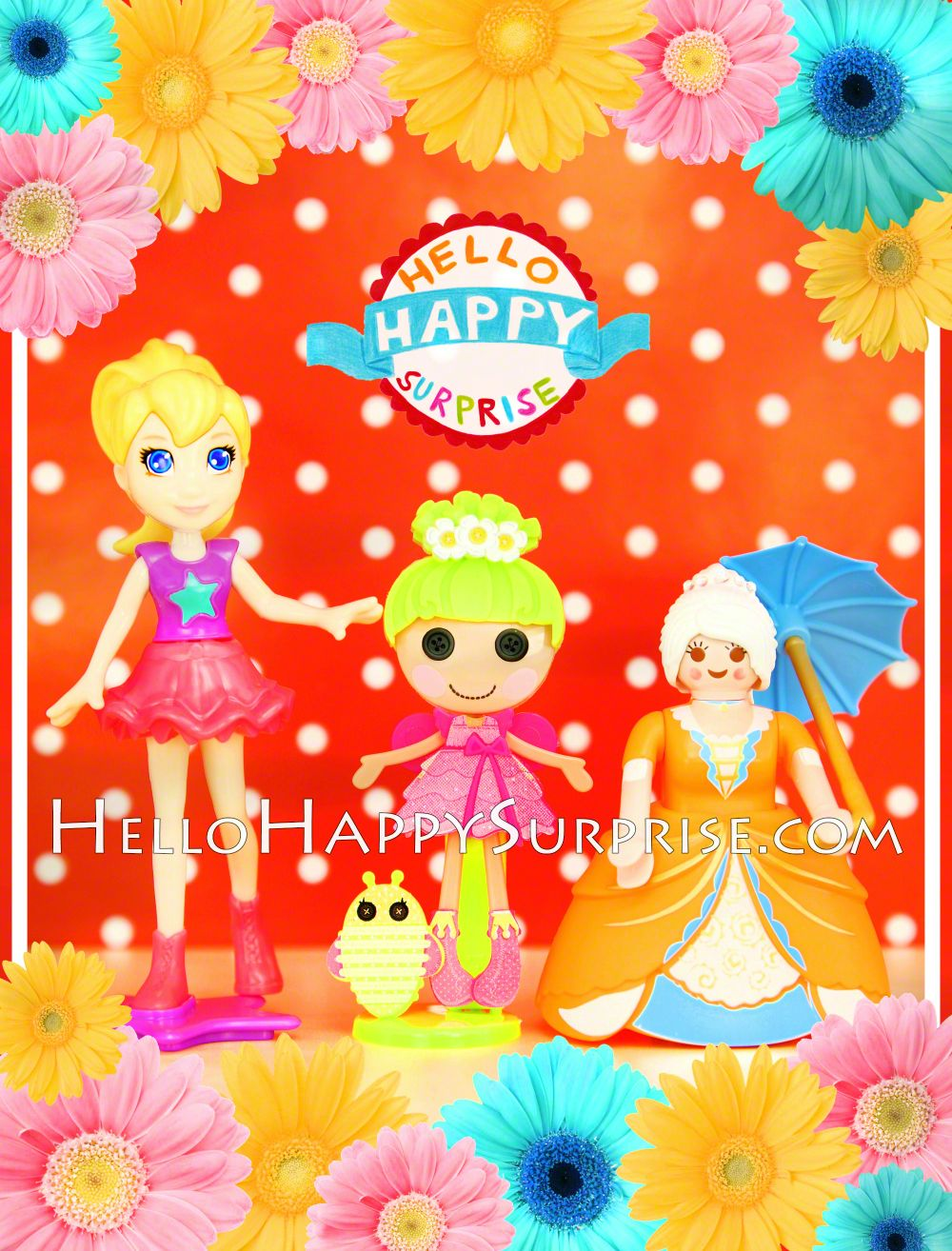 Cute Dolls! Polly Pocket, Lalaloopsy and Playmobil doll  www.HelloHappySurprise.com