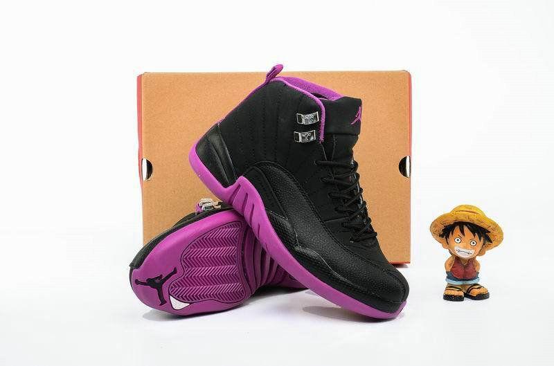 best service b2a0f 96be2 Air Jordan Big Boy Shoes Young 12 XII Hyper Violet Black Metallic Gold Star