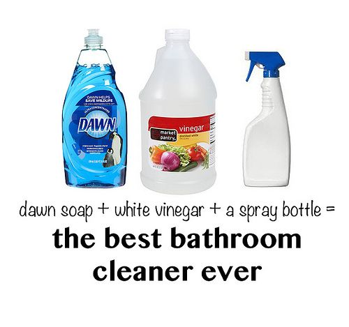A 2 ingredient recipe for cleaning your bathroom, works on the ...