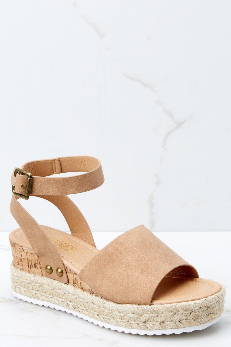 6423f2f7cc45 Stylish Tan Flatform Sandals - Brown Platform Wedges - Shoes -  34.00 – Red  Dress Boutique