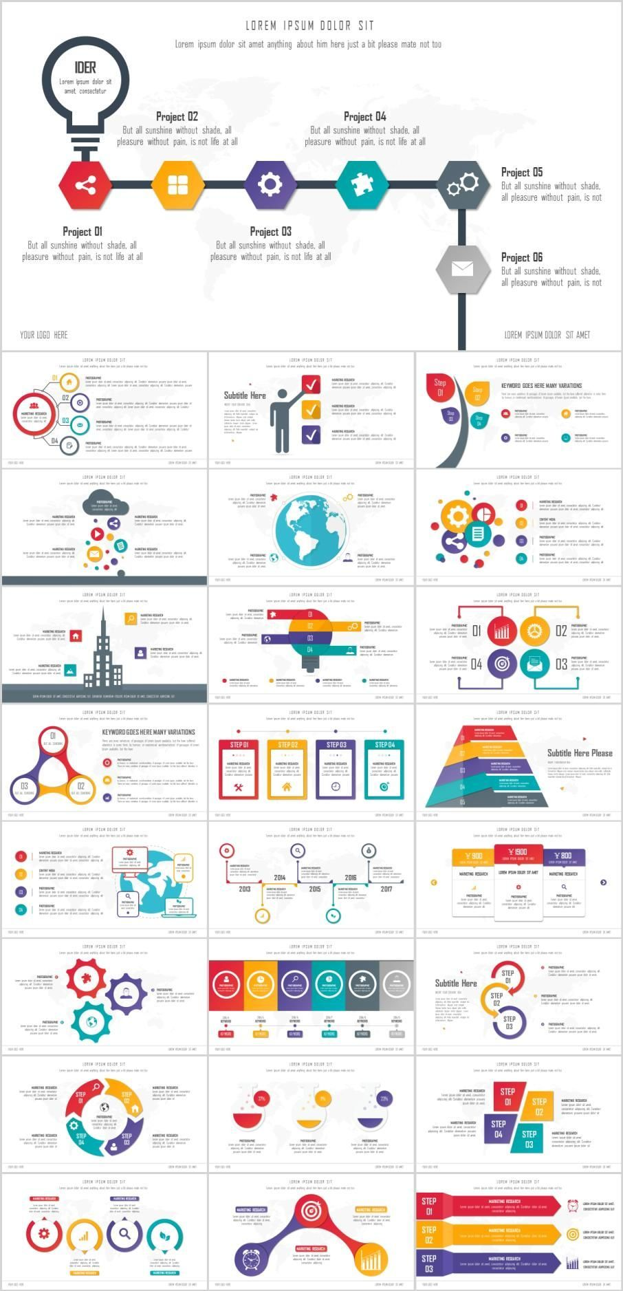 25 Best Infographic Presentation Powerpoint Templates Visit