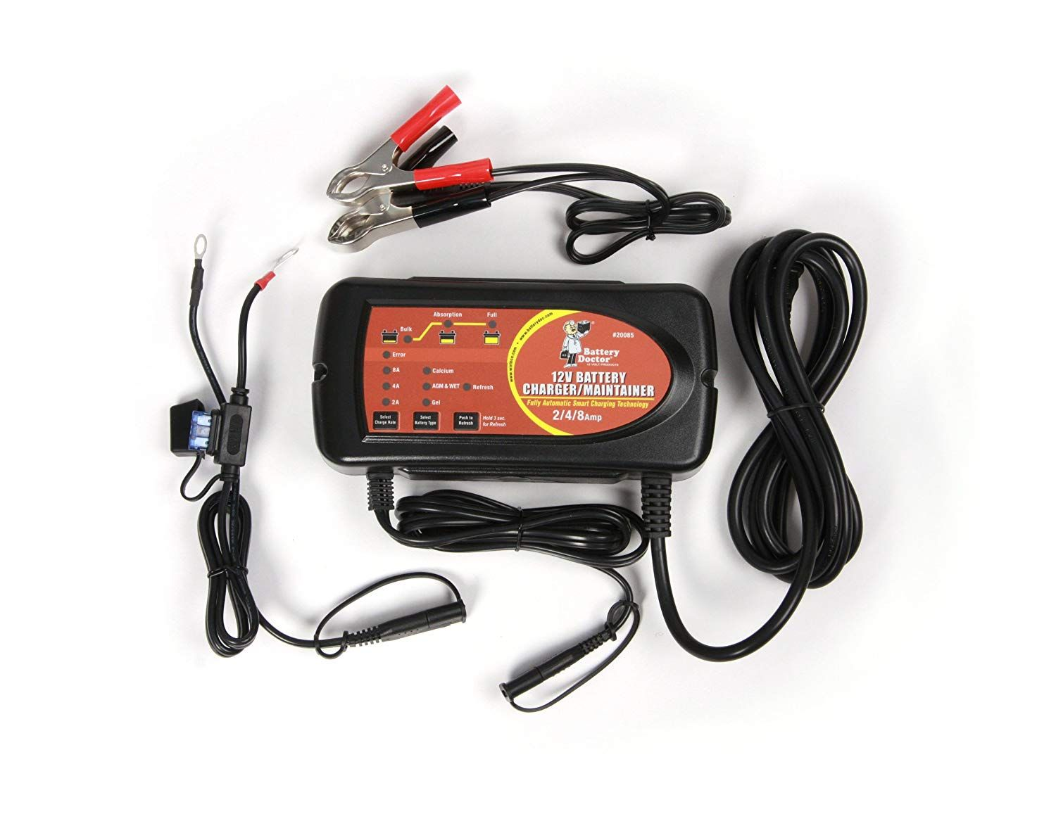 Wirthco 20085 Battery Doctor 12v 2 4 8 Amp Smart Battery Charger Maintainer Visit The Image Link More Details This I Smart Charger Battery Charger Battery