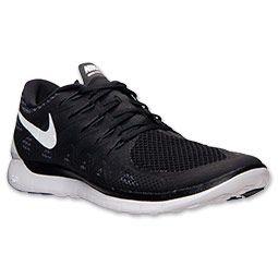 mens nike free 5.0 2014 running shoes finishline black white