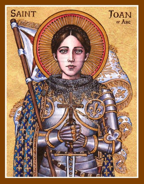 wotanwolfram: St  Joan of Arc icon by Theophilia | Needlework