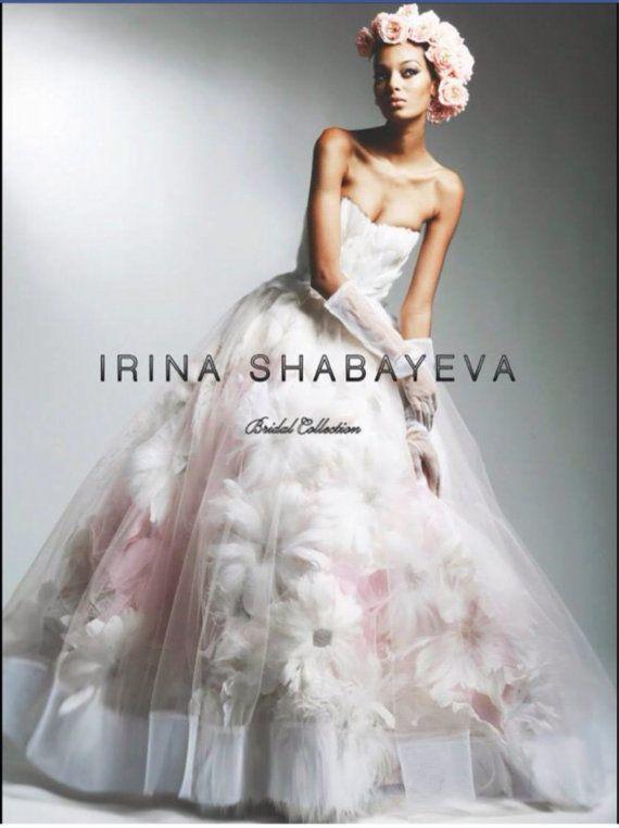 Irina Shabayeva Blush Pink Couture Feather By Irinashabayeva
