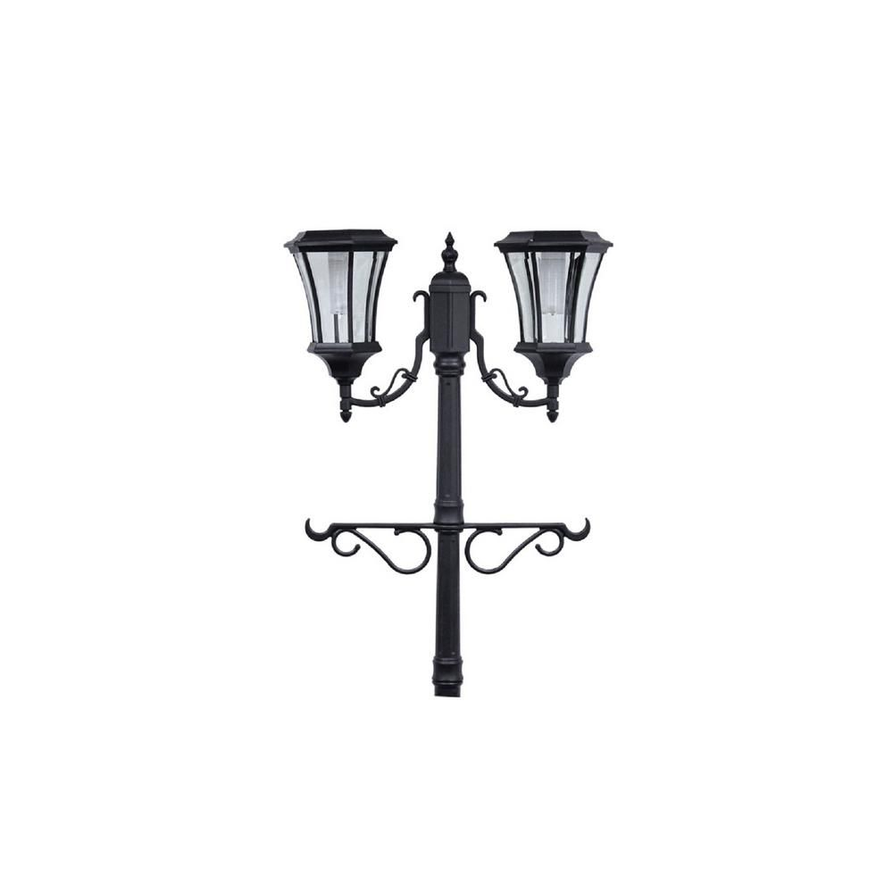 Sunray Martens 2 Light Outdoor Black Integrated Led Solar Lamp