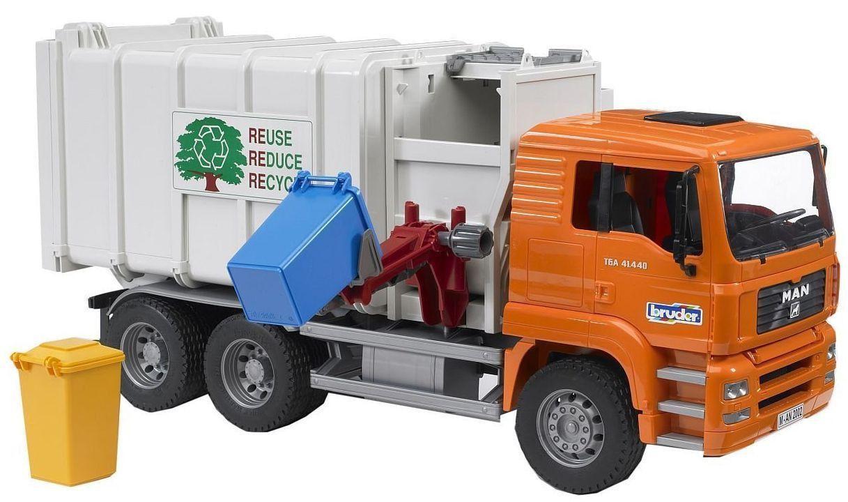 Bruder Toys Man Tga Side Loading Garbage Truck 02761 Kids Play New Garbage Truck Trucks Toy Trucks