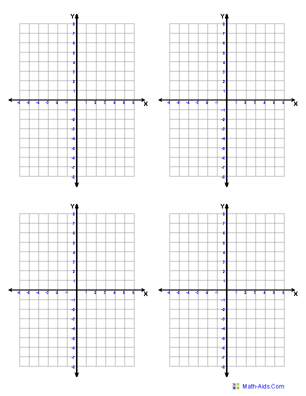 Four Quadrants 4 Per Page and worksheets on all topics