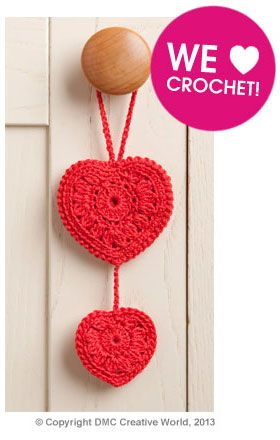 DMC Crochet Heart Pattern  The pattern instruction link has expired but I must try this from the photo. It's very pretty.