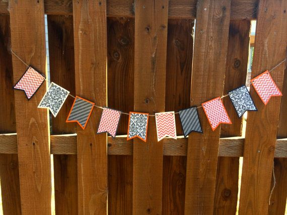 Halloween Banner- Patterned Paper Banner - Halloween Decorations