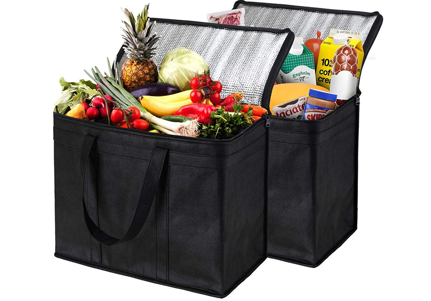 Amazonsmile nz home xl insulated reusable grocery bags