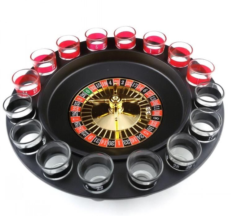 1 Set Russian Lucky Shot Party Games Roulette Drinking
