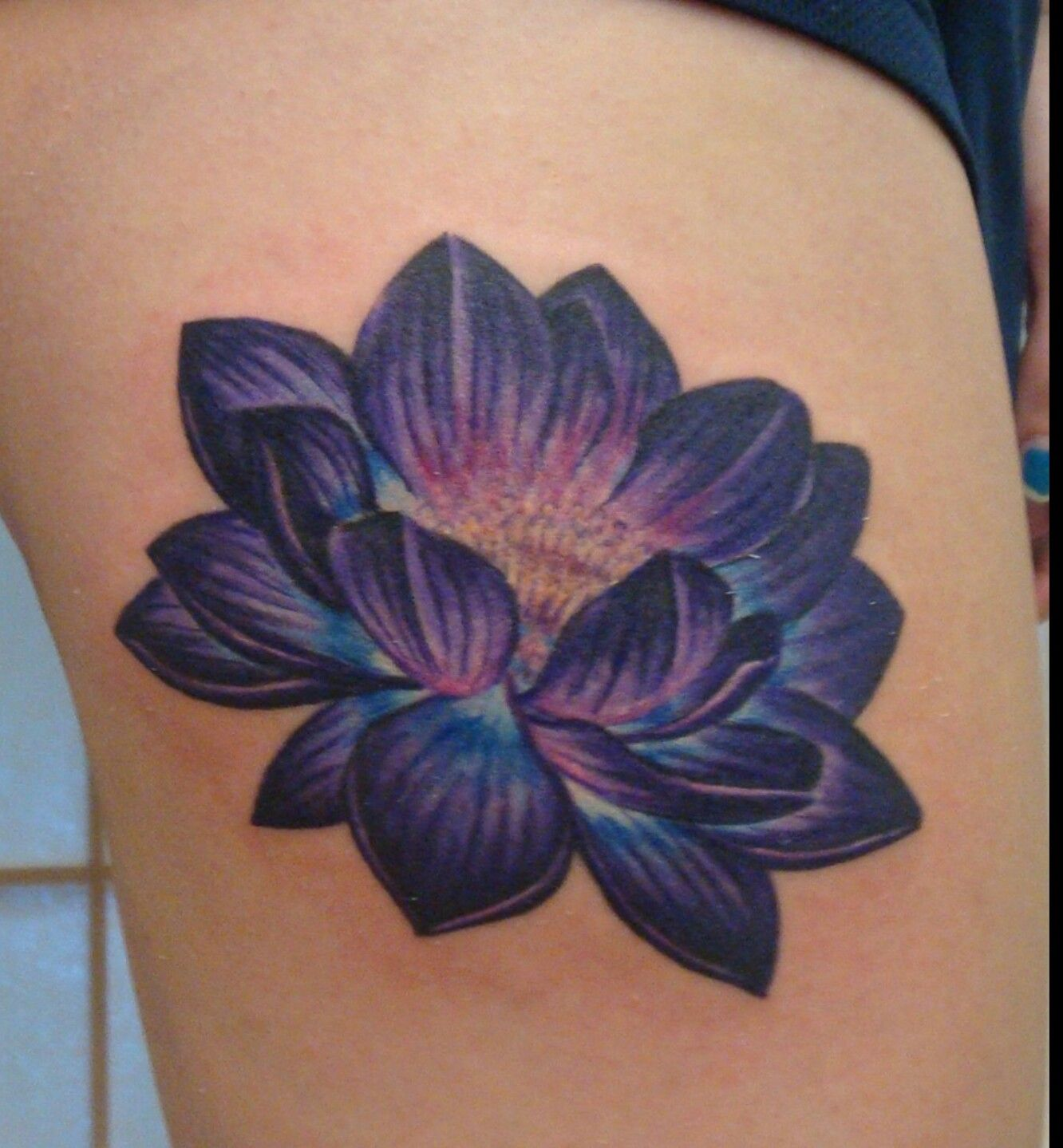 Pin by emil waszak on tatuae dla klientw pinterest tattoo purple lotus tattoo on shoulder with life is beautiful coming off the side izmirmasajfo Image collections
