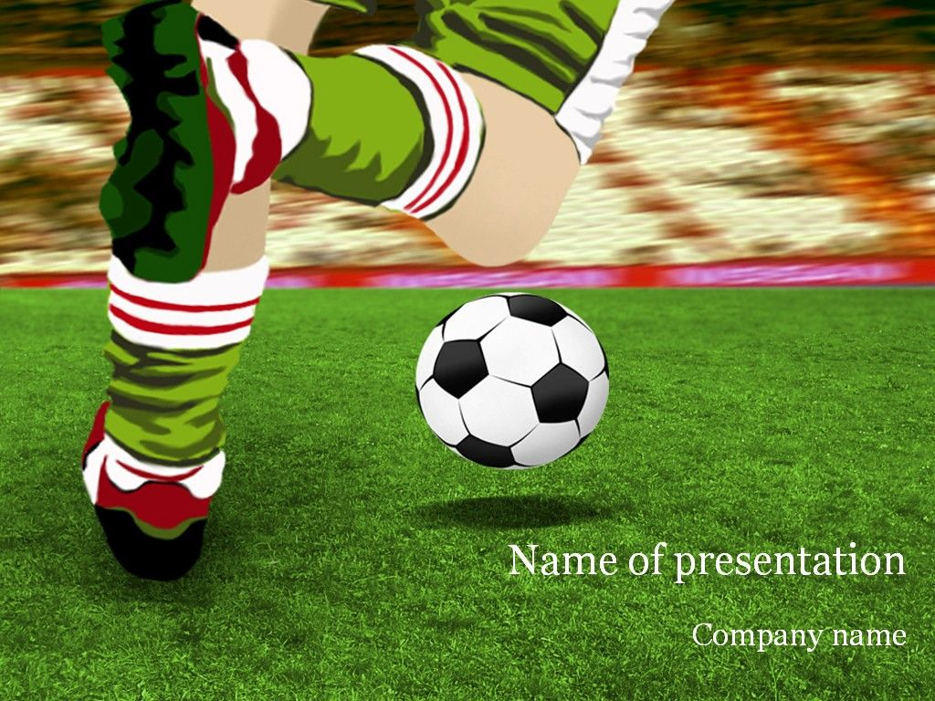 soccer game powerpoint template | android wallpapers | pinterest, Powerpoint templates