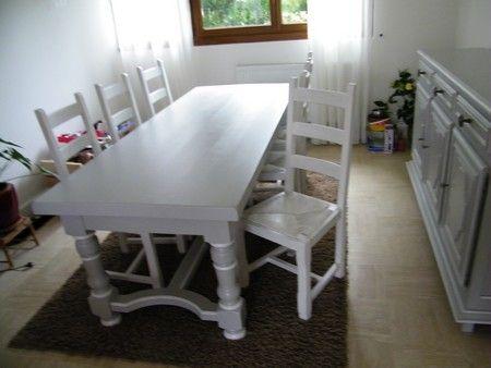 meubles chene peint gris et rechampi meubles relookés Pinterest - Repeindre Un Meuble En Chene