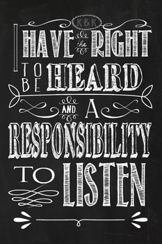 rights and responsibilities chalkboard theme printables for