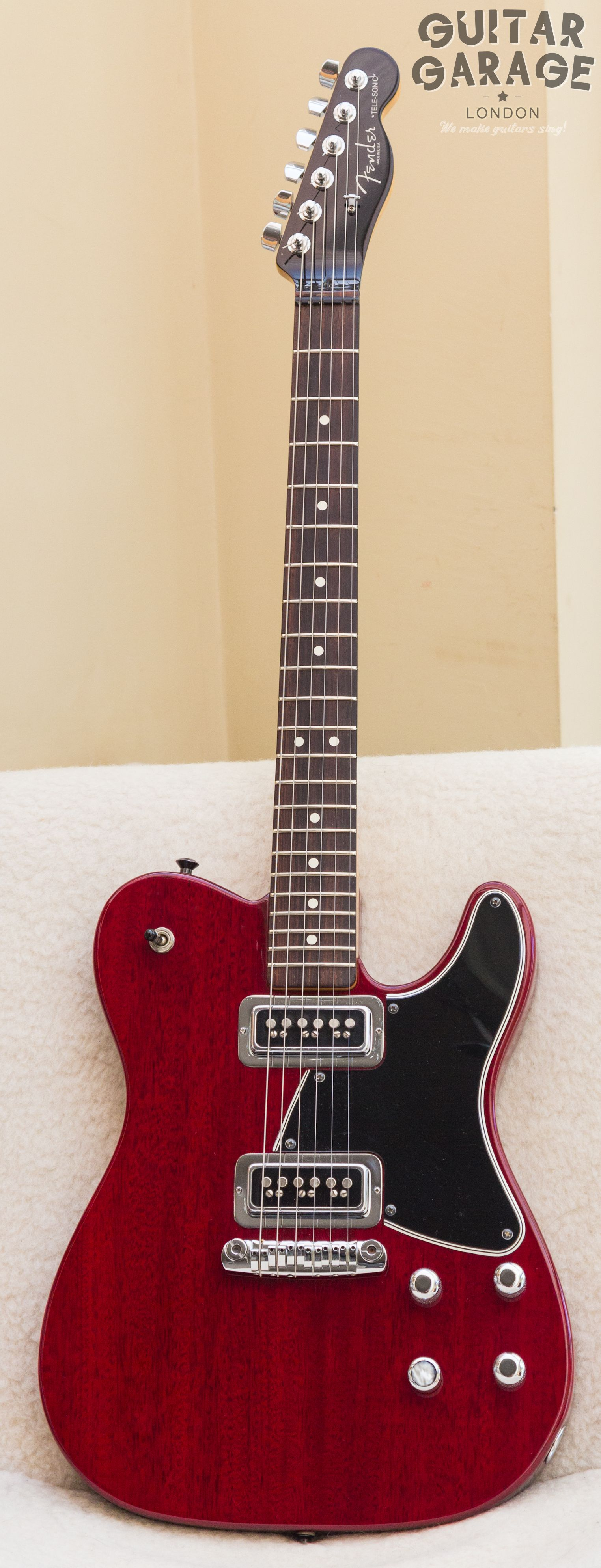 1999 Fender Telesonic. VERY RARE! With Tech-tonic fully-adjustable bridge, series/parallel wiring, 500K pots, Earvana nut, locking tuners, straplocks