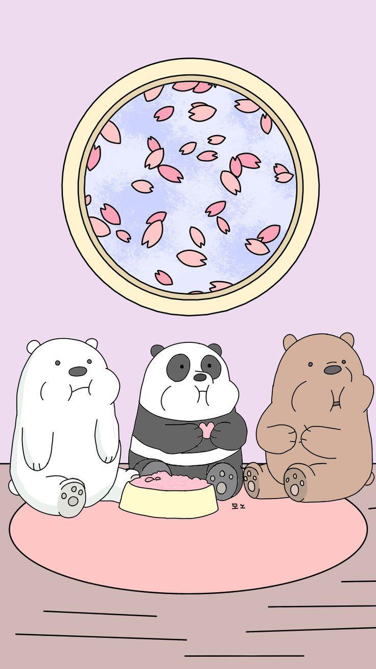We Bare Bears Wallpaper Characters Games Baby Bears Episodes Ilustrasi Karakter Wallpaper Kawaii Boneka Hewan