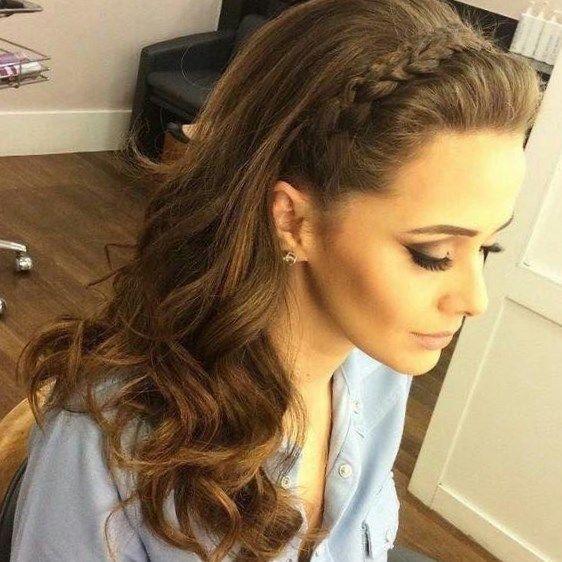 Peinados De Fiesta Con Trenzas Recogidos Muy Elegantes Peinado Semirecogido Con Trenzas Peinados Con Trenzas Peinados Con Cabello Suelto