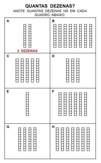 Dezenas Base 10 Atividades Dezenas E Unidades Dezenas Exatas