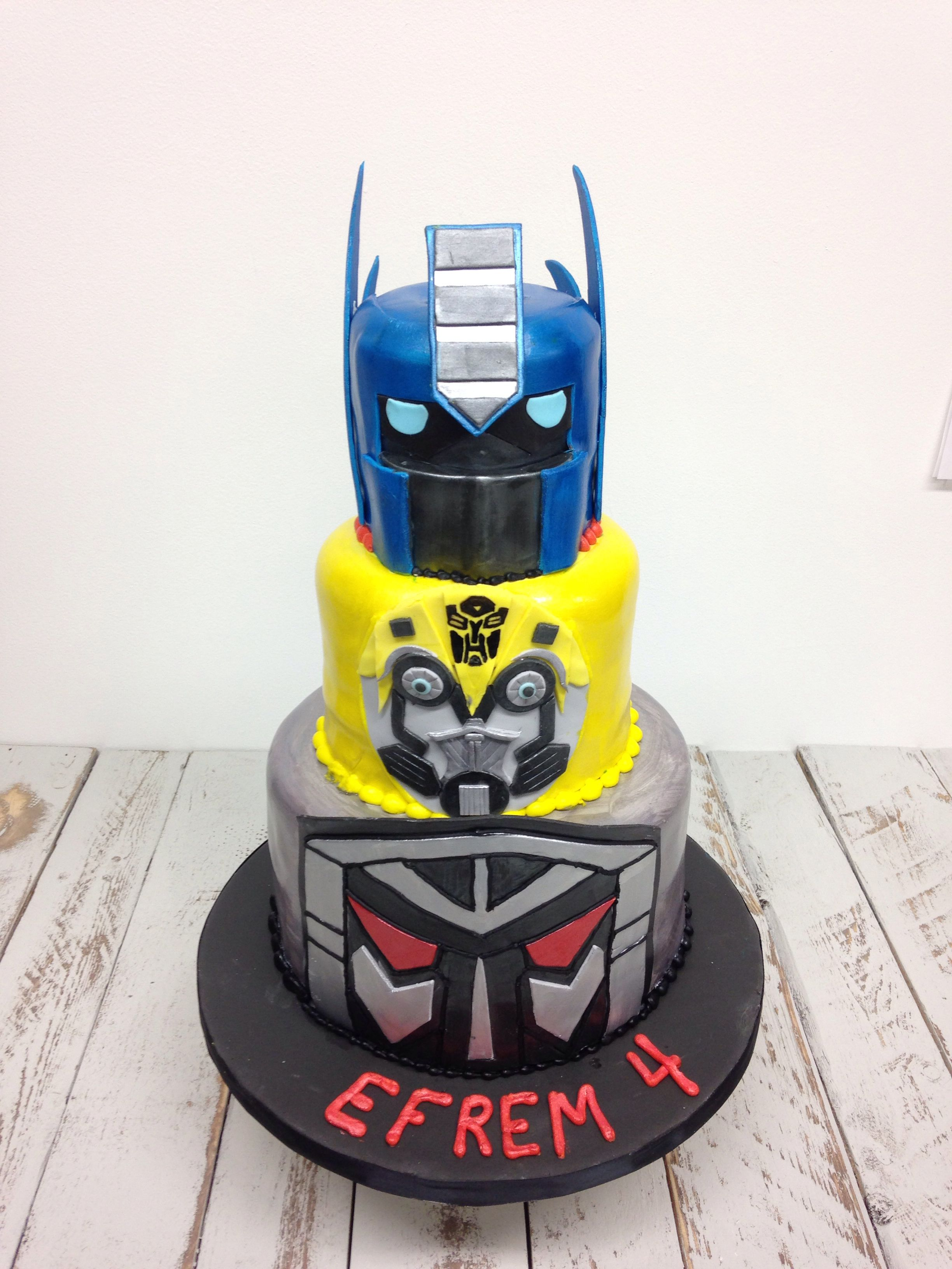 Transformers cake done working with Nashville Sweets.