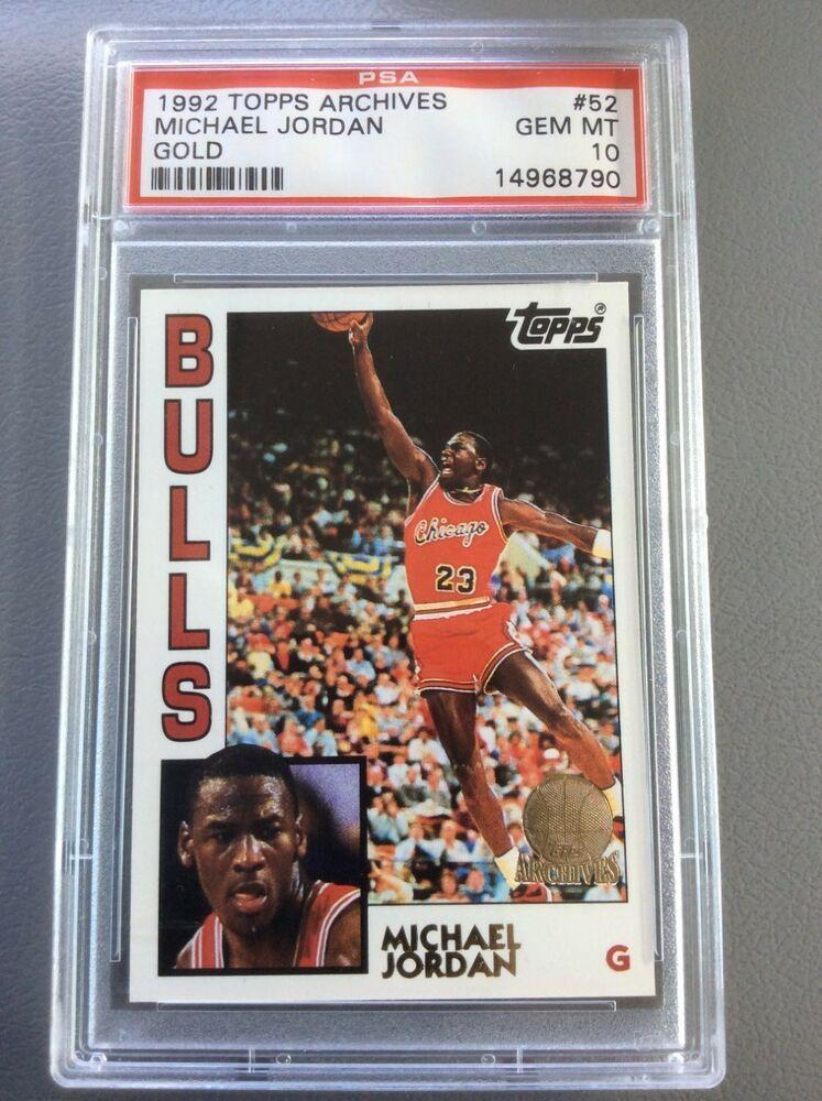 1992 topps archives gold michael jordan psa 10 gem mint