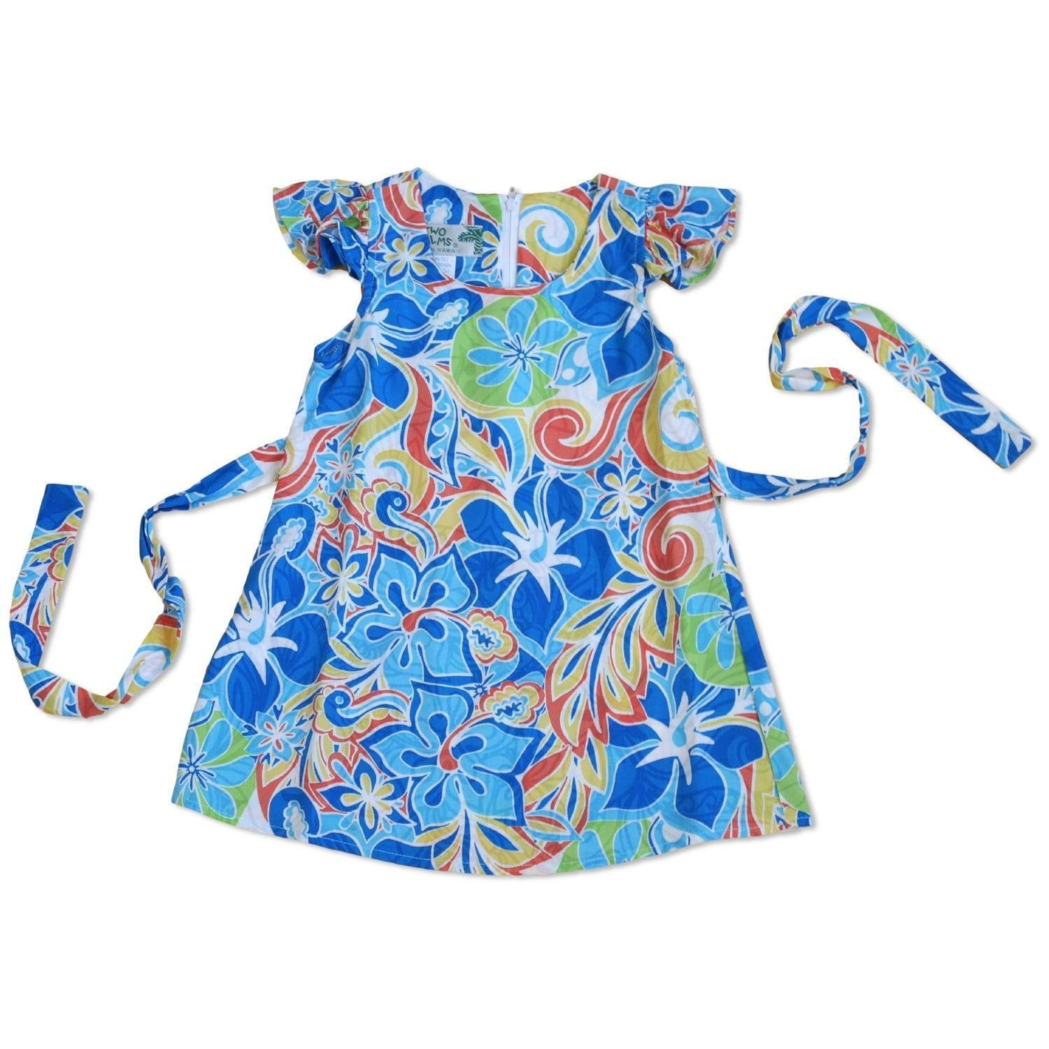 Seaglass Blue Hawaiian Girl Rayon Dress | Hawaiian girls, Blue ...