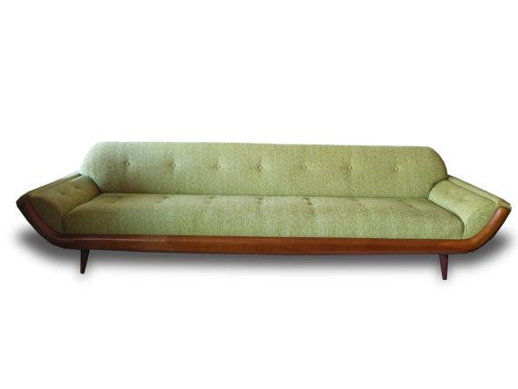 Mid Century Modern Adrian Pearsall Gondola Sofa Reupholstered Local Pick Up  Only