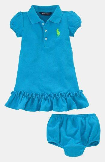 69ec13657 Ralph Lauren Polo Dress & Bloomers (Baby Girls) | Nordstrom | God's ...