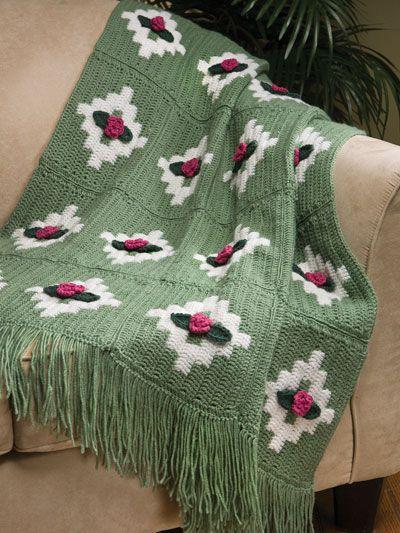Diamond Rose Throw Maggie Weldon Free Crochet Pattern Free