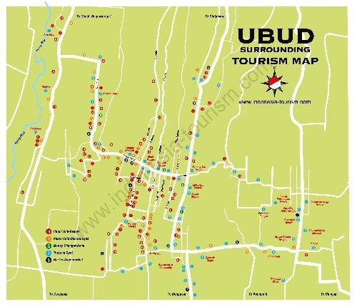 Bali Ubud Tourist Map Travel Ubud Bali Lombok Ubud Indonesia